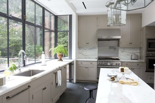 steel framed windows in kitchen