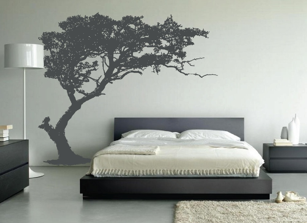 tree in bedroom
