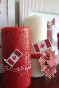 1 - red and white candles