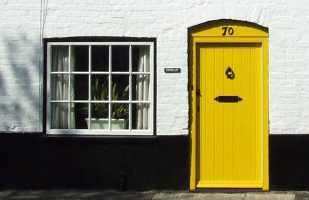 3 - yellow door