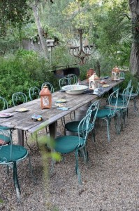 722 - rustic outdoor dining
