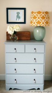 light blue dresser with toggle knobs