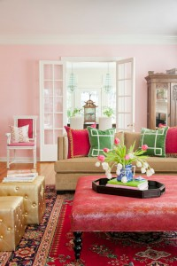 greek-key-pillows-pink-decor-interior-design-blog-ideas-eclectic-living-room