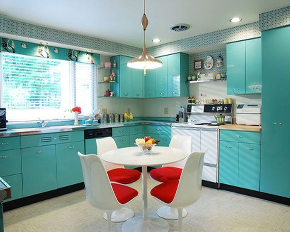 Small-Kitchen-In-L-Shaped-Design-With-Turquoise-Cabinets-And-White-.jpg