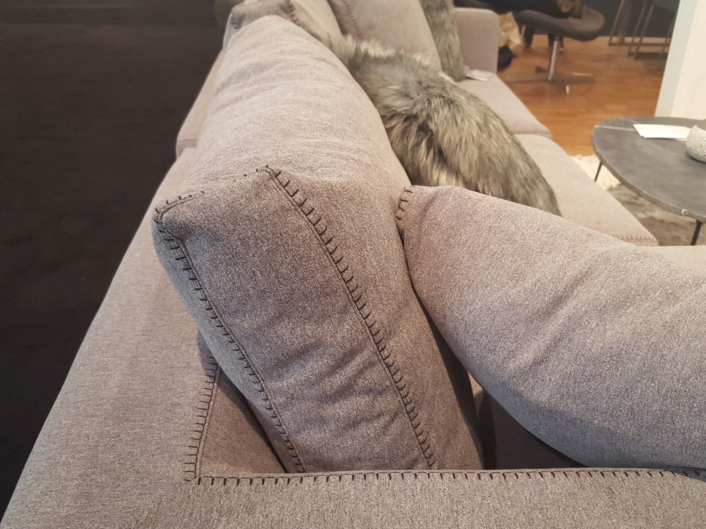 Had to get a close up of the stitching on this sofa - nice touch, right?