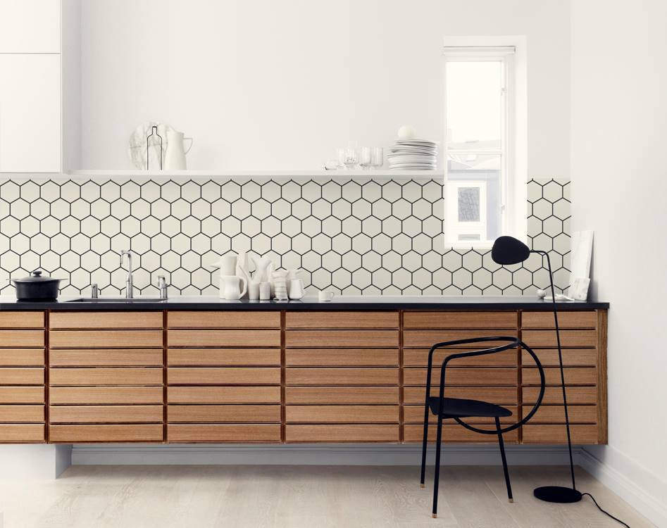 kitchenwalls_wallpaper_hexagon_wooden kitchen (2).jpg