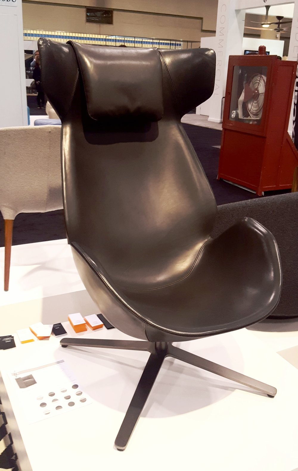Another take on the Egg chair. Quite comfy! From Suite 22 Interiors