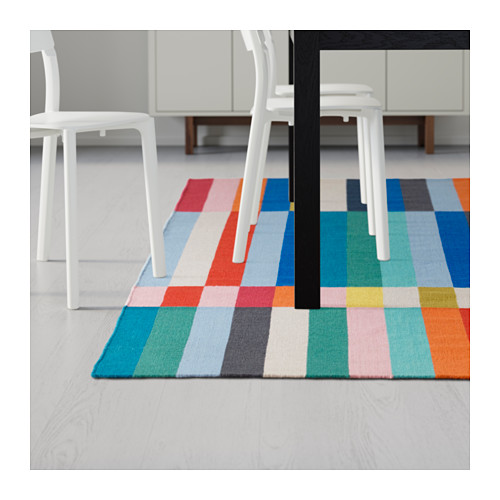 This colourful HALVED flatweave rug in natural wool and cotton is a great way to add colour and texture to any space. Great deal at $199 for a 240 x 170 cm size!