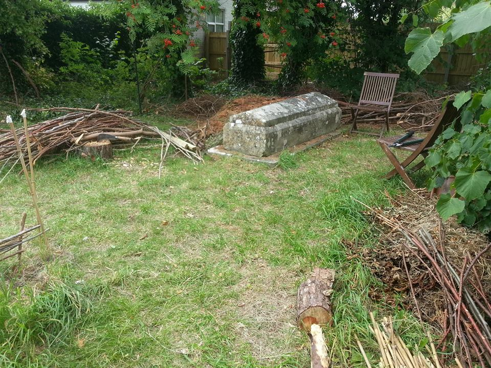 Clearing a space for nature at St. Clements churchyard in Salisbury.