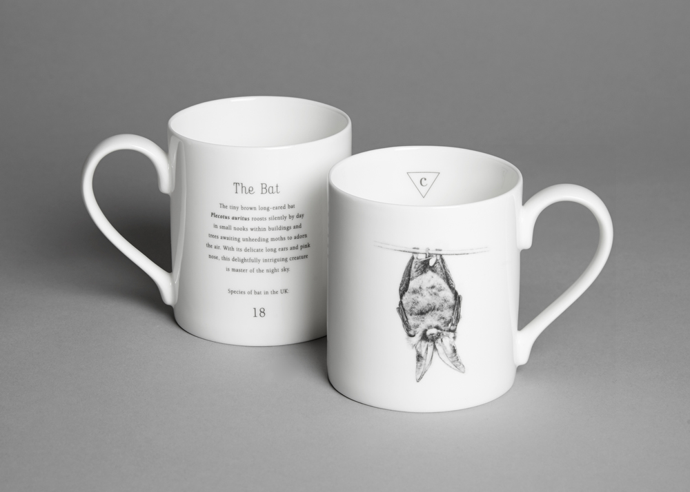 English fine bone china bat mug £14.00 (including a £1.40 donation to the Bat Conservation Trust)