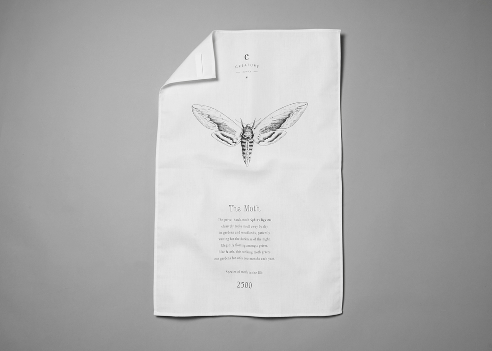 Moth Tea Towel
