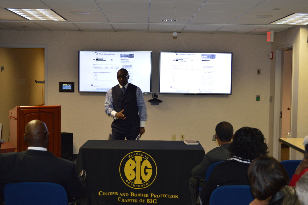 CEO & Founder, Mr. Cedric Lancaster, presenting at one of our Benefits & Retirement Workshops