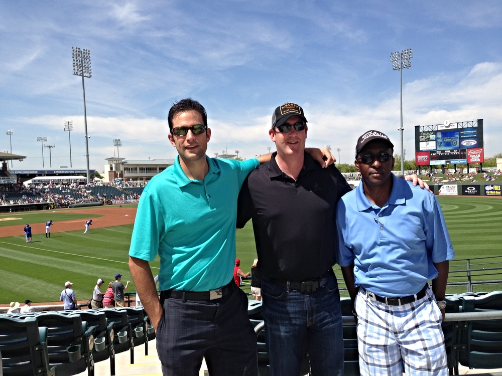 VP of ABX Mark Saccomanno, CEO & President of American Benefits Exchange, Brian Pearson, and UEBSC CEO, Cedric Lancaster, in Phoenix, AZ.