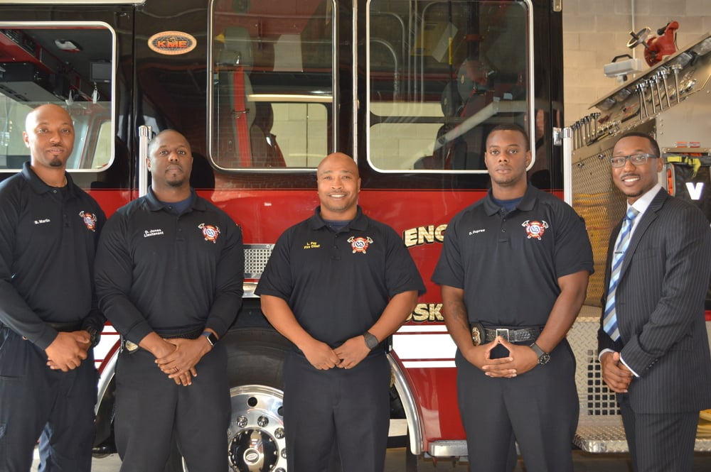 Tuskegee, Alabama's Veterans Administration Firefighters, Fire Chief Foy, and CMO Corico McCray - Jan. 2016