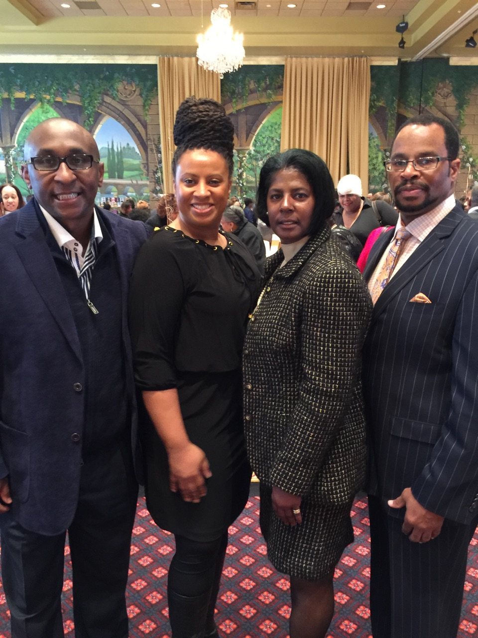 (From left to right) CEO Cedric Lancaster, Director of Communications Tonette Delk, BIG Pentagon Chapter President Honorable Mary K. Thomas, and Former National President of BIG, Gerald R. Reed. (Deputy Director, Engineering U.S. Army) - Jan. 2016 - Washington, DC.