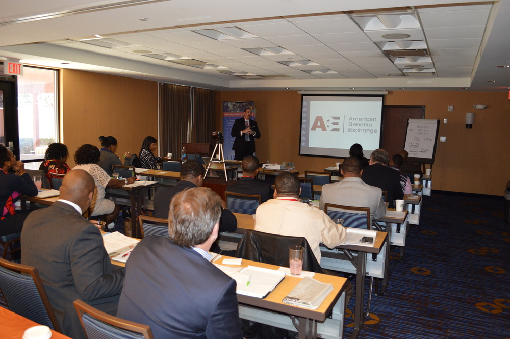 CEO & President of American Benefits Exchange, Brian Pearson, speaking to Benefits Counselors at our 3rd Annual Leadership & Training Conference. Feb. 2016 - Atlanta, GA