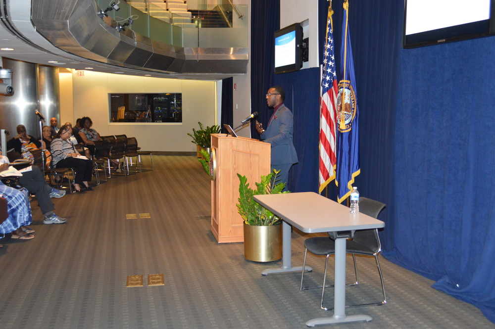 CMO Corico McCray, Sr. presenting to the VA Headquarters Chapter of BIG in Washington, DC. - July 2016