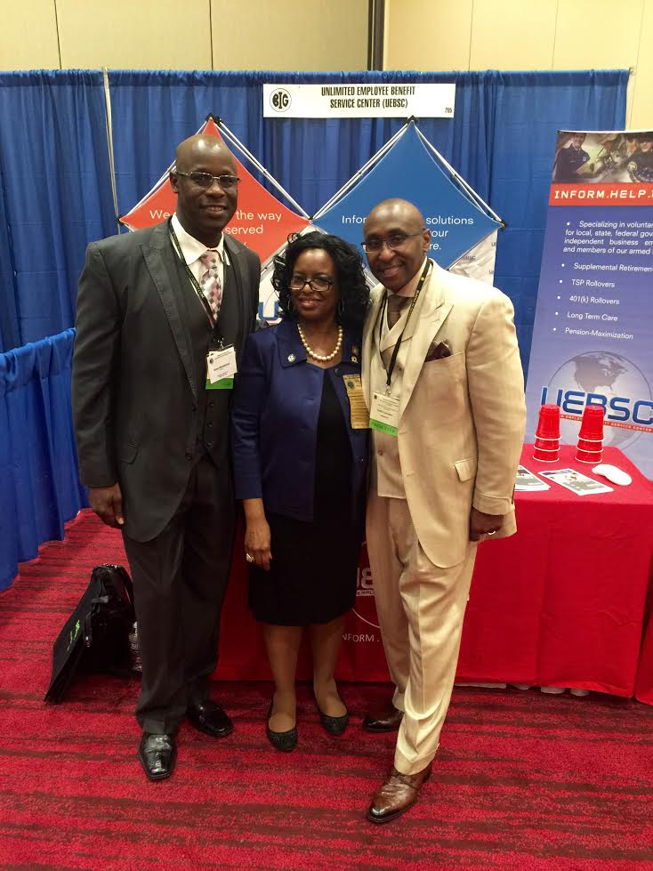 Chief Operating Officer Brian Shackelford and CEO Cedric Lancaster share a moment with President Doris Sartor during the 38th Annual BIG NTI Conference in Atlantic City, NJ - August 2016