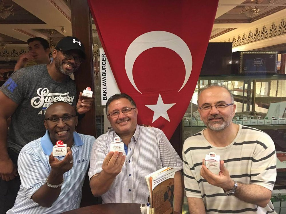 Mr. Lancaster enjoying Instanbul, Turkey with world renown, Nadir Gullu, the chef and Baklava master of  Karakoy Gulluoglu at his famous restaurant - August 2016