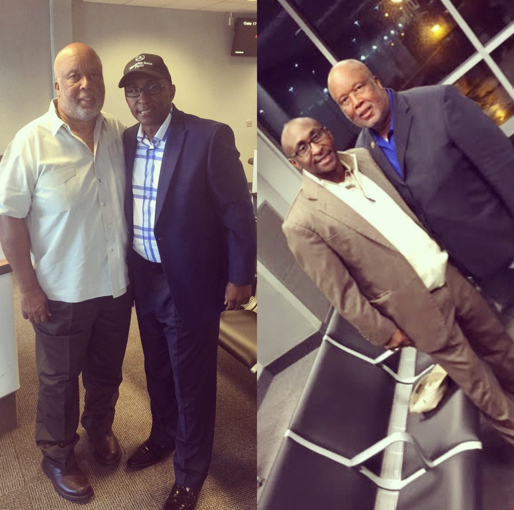 CEO/Founder, Cedric Lancaster and Congressman Bennie G. Thompson of Mississippi, Democratic Party representative and also the ranking Committee Member of Homeland Security share a moment together.