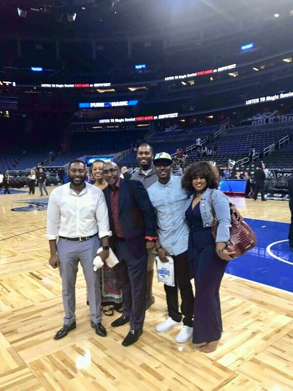 UEBSC enjoying a moment at the season opener for the Orlando Magic at Amway Center on October 26th, 2016.