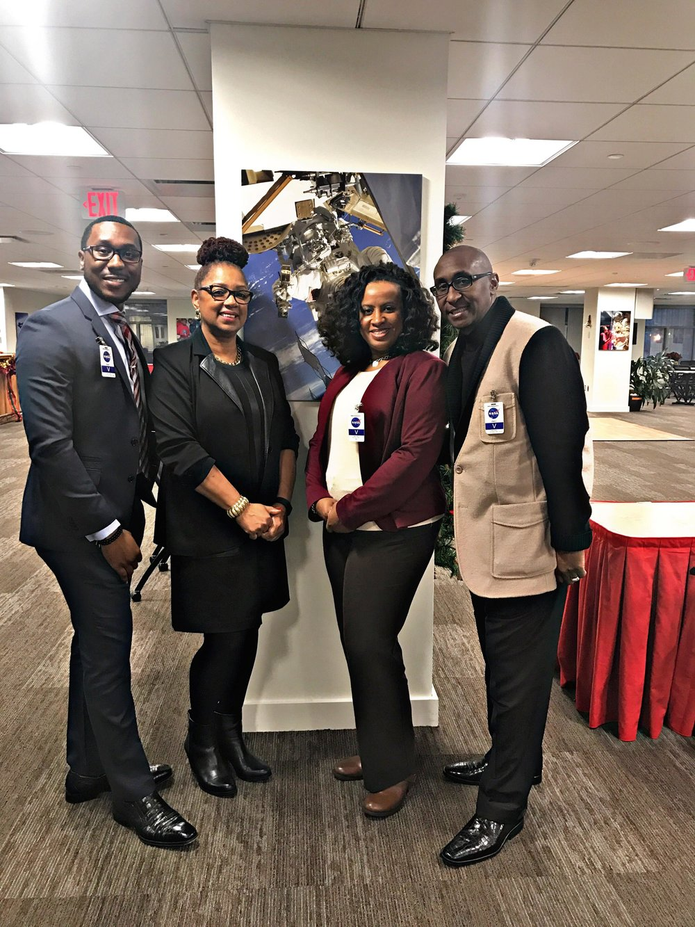 UEBSC Executives @ the NASA Headquarters serving federal employees w/ Vicky Walton - Program Analyst & President of the NASA Headquarters - BIG Chapter - December 2016