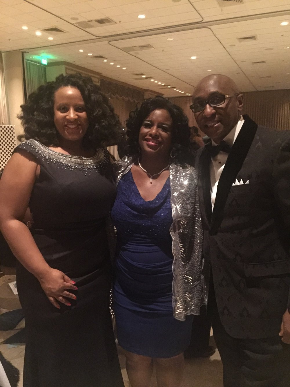 (Left to right) Director of Communications, Tonette Delk, President-Elect Honorable Dr. Doris Sartor, and CEO Cedric Lancaster at the Region XI BIG Winter Gala - December, 2016