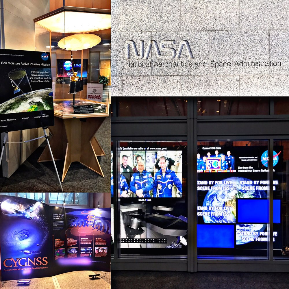 Items from inside the NASA Headquarters in Washington, DC...where UEBSC Benefits Counselors assisted federal employees. December, 2016