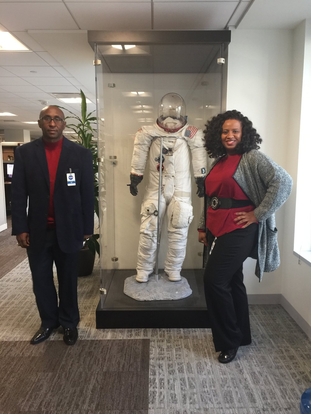 CEO, Cedric Lancaster & Director of Communications, Tonette Delk, inside the NASA Headquarters - Washington, DC. - December, 2016
