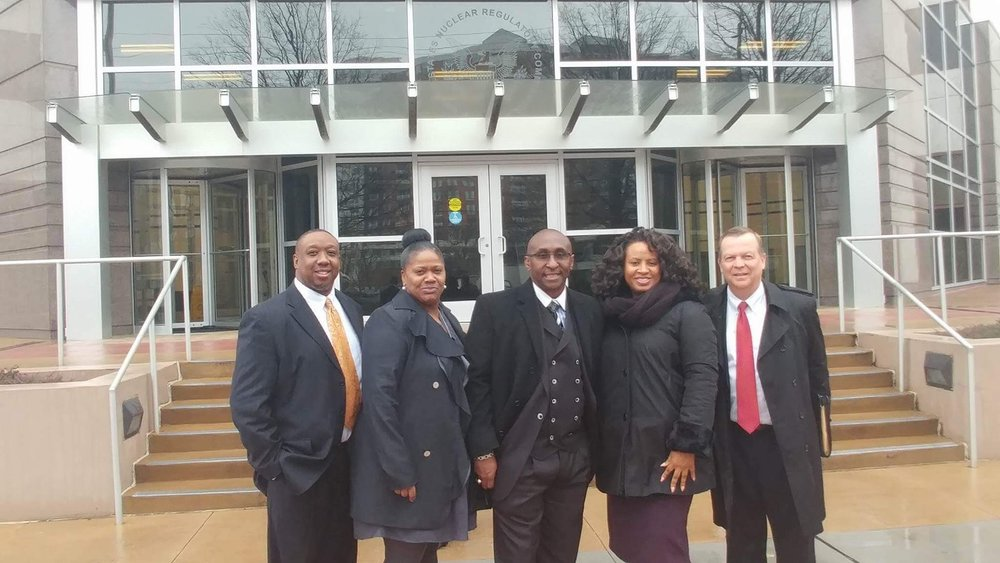 Team UEBSC after conducting a Retirement Seminar for Federal Employees at the U.S. Nuclear Regulatory Commission in Rockville, MD. From Left to Right - Ray Yzer (Benefits Counselor - Northern VA), Khadijah Harris (Benefits Counselor - MD and DE), Cedric Lancaster (CEO), Tonette Delk - (Director of Communications), Larry Larson (Benefits Counselor - DC and Baltimore)