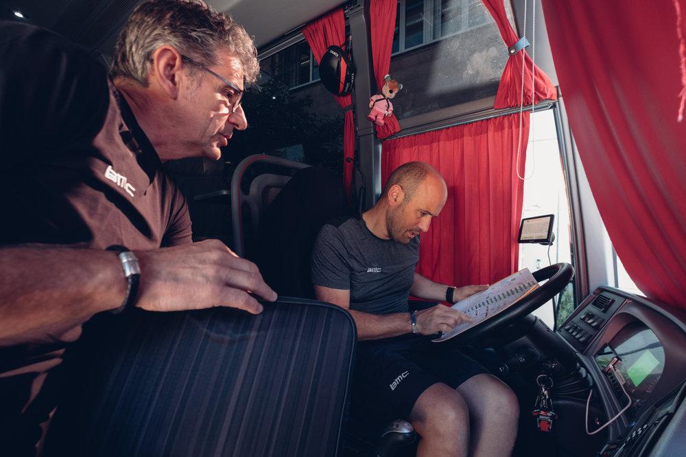 Auch für den Teambus gibts Routenplanung
