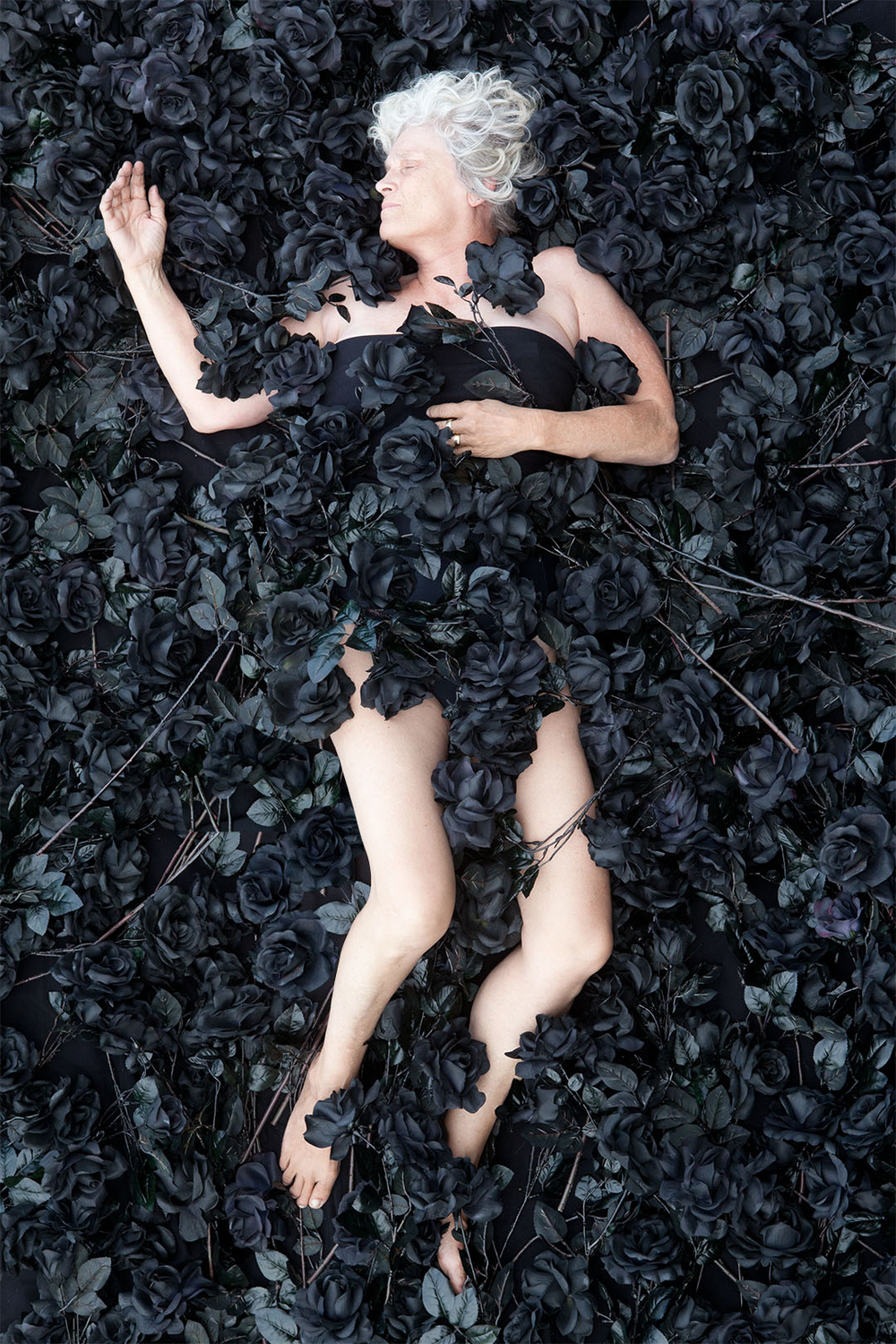 'Self Portrait with Black Roses' - 30cm x 110cm - Chromogenic Print - 2014