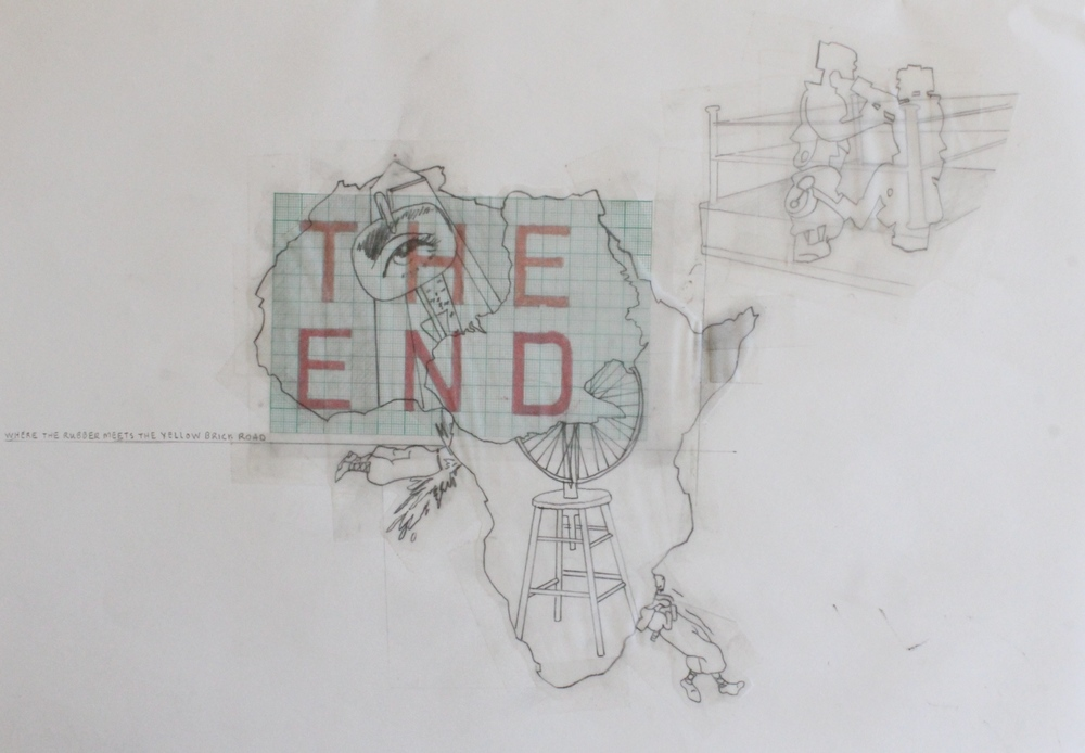 "'David Clark - 10 (The End)' - 11.5"" x 16.5"" - collage - $275"
