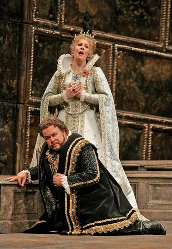 Sondra Radvanovsky and Richard Margison in Don Carlos at the Metropolitan Opera.