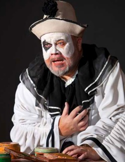 Margison as  Pagliacci in the Edmonton Opera's season opener.