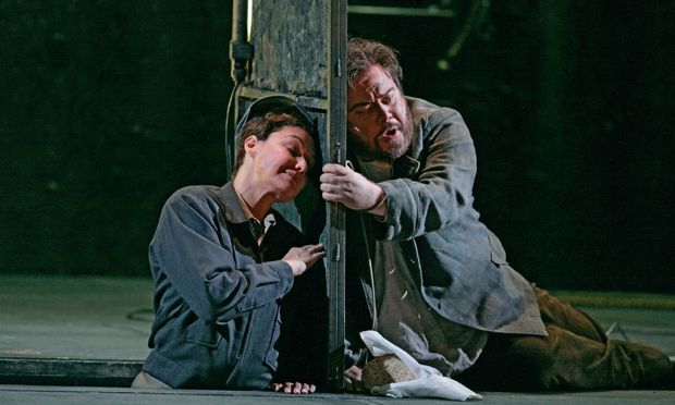 Karita Mattila as Leonore and Richard Margison as Florestan in 'Fidelio' at the Metropolitan Opera in New York.