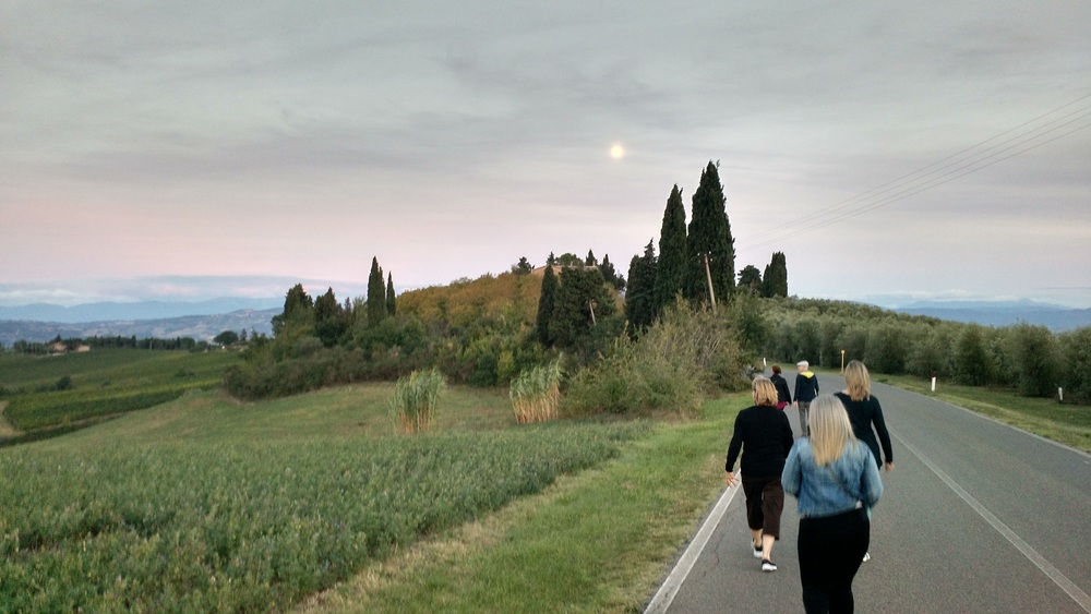 A pre-dinner walk in the Umbrian countryside