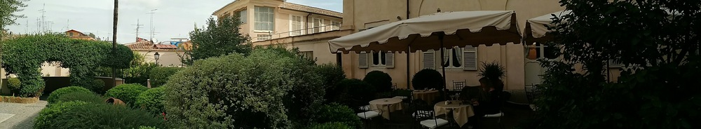 Panoramic view of our Roman courtyard