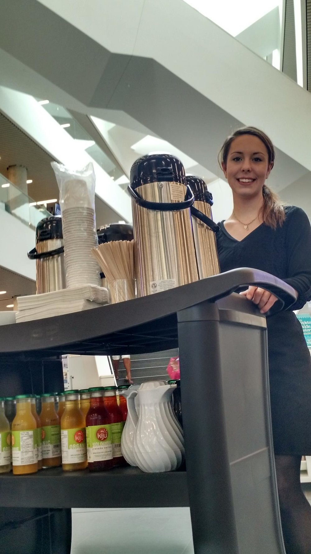 Copy of PAVIA delivers your coffee, tea & juices to any of the many rooms in the Central Library!