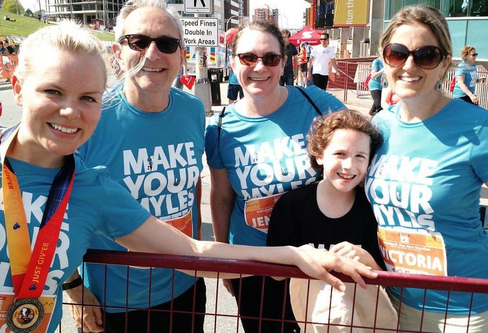 PAVIA employés take part in the Bluenose Marathon to raise money for the YWCA!