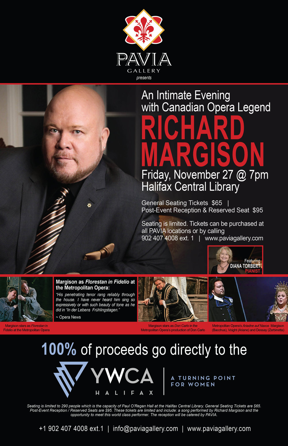"The second in a series of ""Intimate Evening"" saw Canadian Tenor Richard Margison performing to a crowd of over 220 people in Paul O'Regan Hall. The event raised more than $8,000 for the YWCA!"