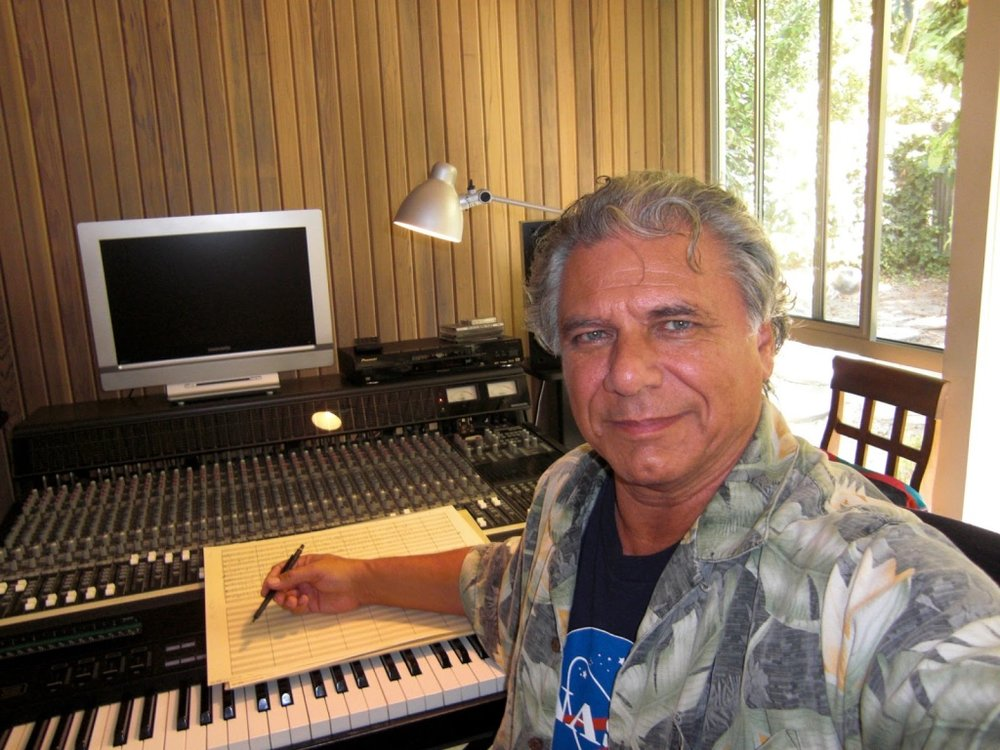 Paul Buckmaster in His Studio in the Santa Monica Mtns
