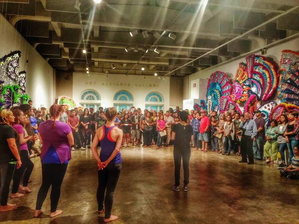 MMM project @ Riverside Art Museum performing Unmasking Feat: A performance installation and exhibition Thursday, Sept. 3, 2015
