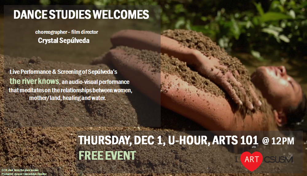 Upcoming event at California State University San Marcos Visual and Performing Arts Department Thursday, Dec. 1st @ noon in ARTS 101 FREE EVENT