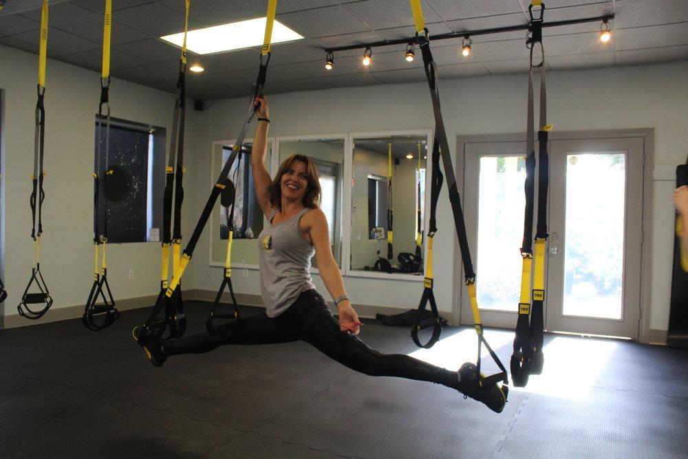 Emily B. Frischhertz, Owner of M Fit Studio  Certified Personal Trainer  TRX Black Rank Coach