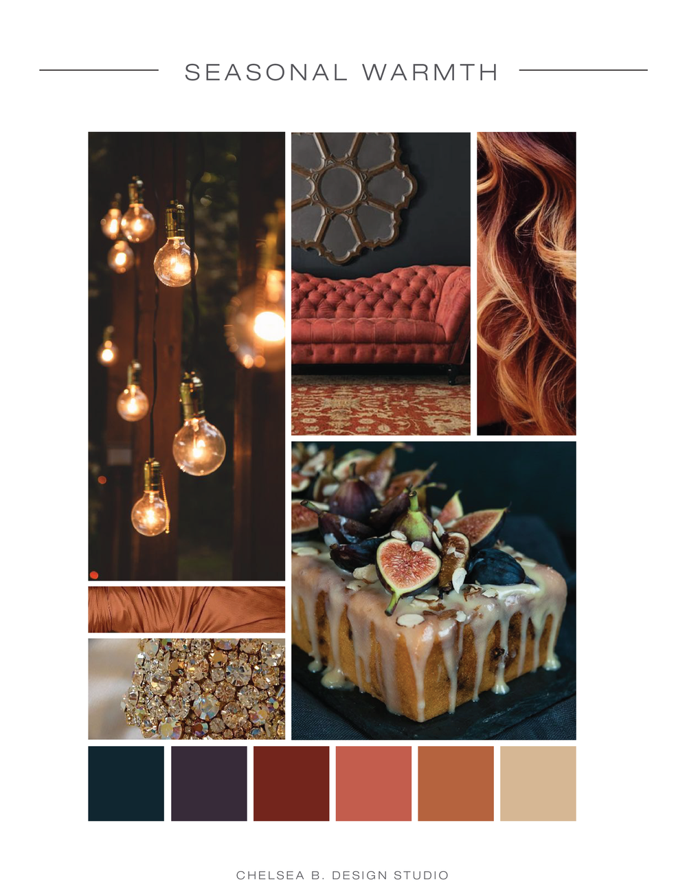 lights | couch | curls | cake | satin | bling