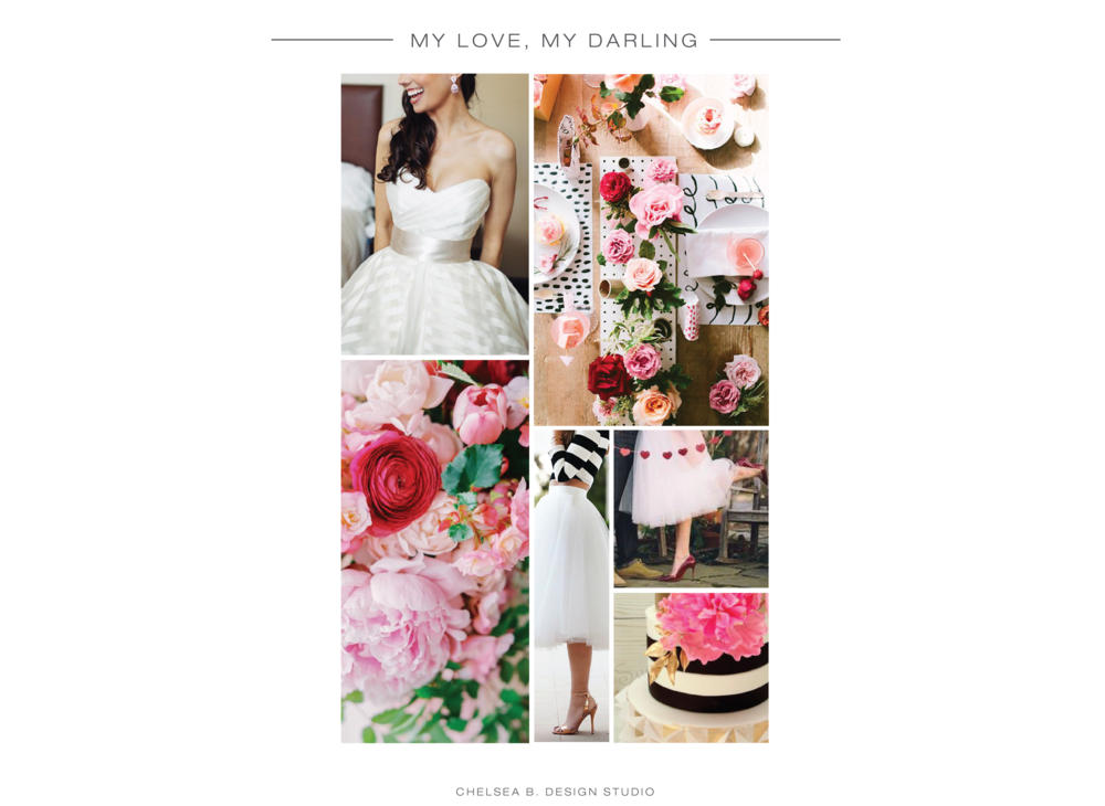 Dress |  Tablescape | Flowers | Black and White Tulle | Pink Tulle | Cake