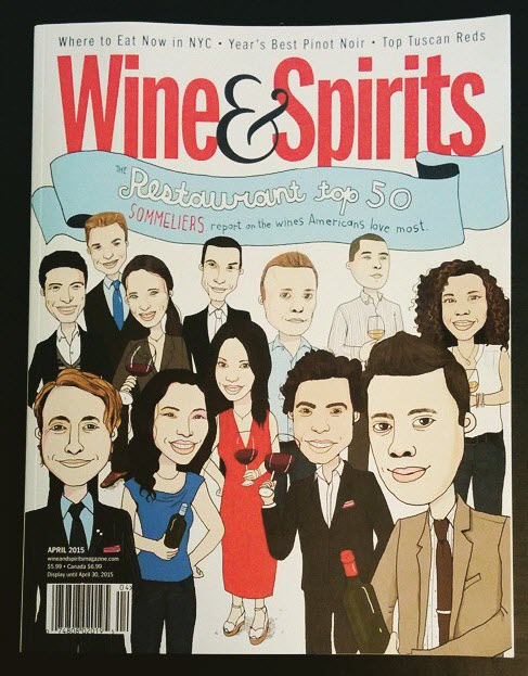 Wine & Spirits Cover Featuring Monika Melnychuk