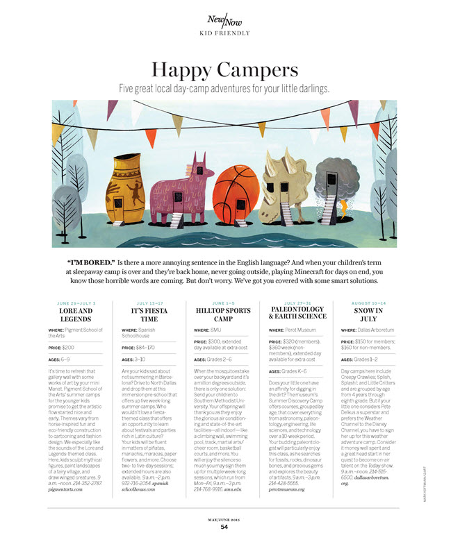 Mark Hoffmann, Happy Campers Article in D Magazine