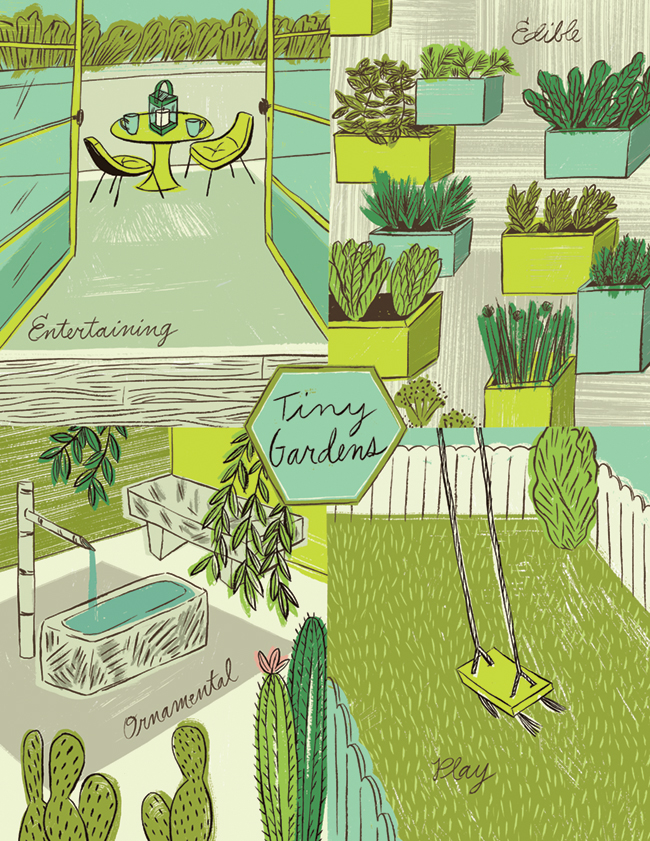 Tiny Gardens illustration by Katy Dockrill for Oregon Home